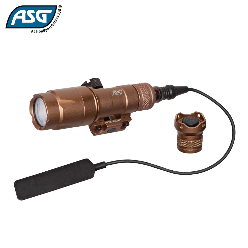 Tactical Torch with Pressure Pad 280-320 lumens Tan Strike Systems ASG