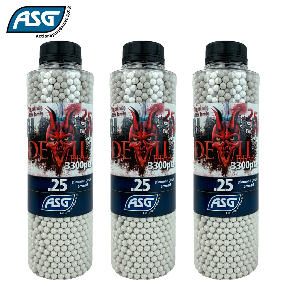 3x Blaster Devil 0.25g BBs Bottle of 3300 ASG