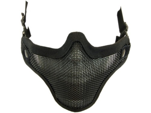 Half Face Mesh Mask Black with Double Strap NUPROL