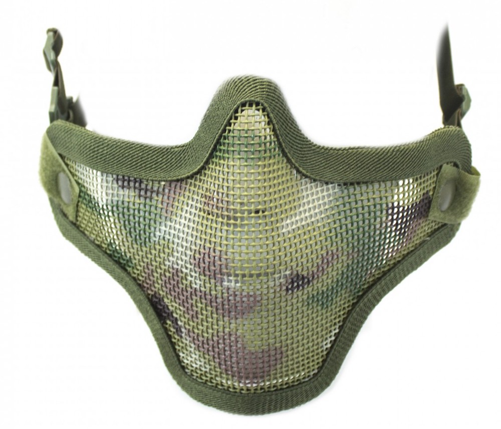 Half Face Mesh Mask Multicam with Double Strap NUPROL