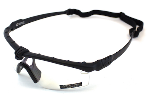 NP Battle Pro's Black Protective Glasses Clear NUPROL