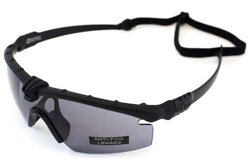 NP Battle Pro's Black Protective Glasses Smoked NUPROL