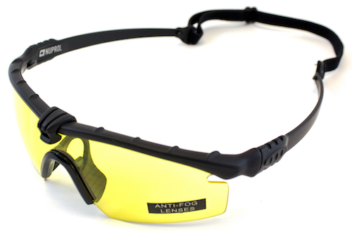 NP Battle Pro's Black Protective Glasses Yellow NUPROL