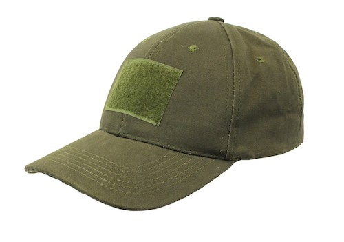 Combat Cap with Velcro OD Green NUPROL