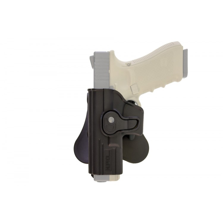 Retention LEFT Handed Holster for Glock Series on Rotating Paddle NUPROL