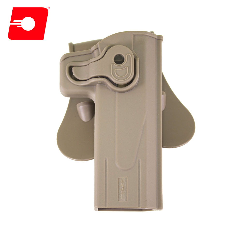 Retention TAN Holster for Hi-Capa Series on Rotating Paddle NUPROL