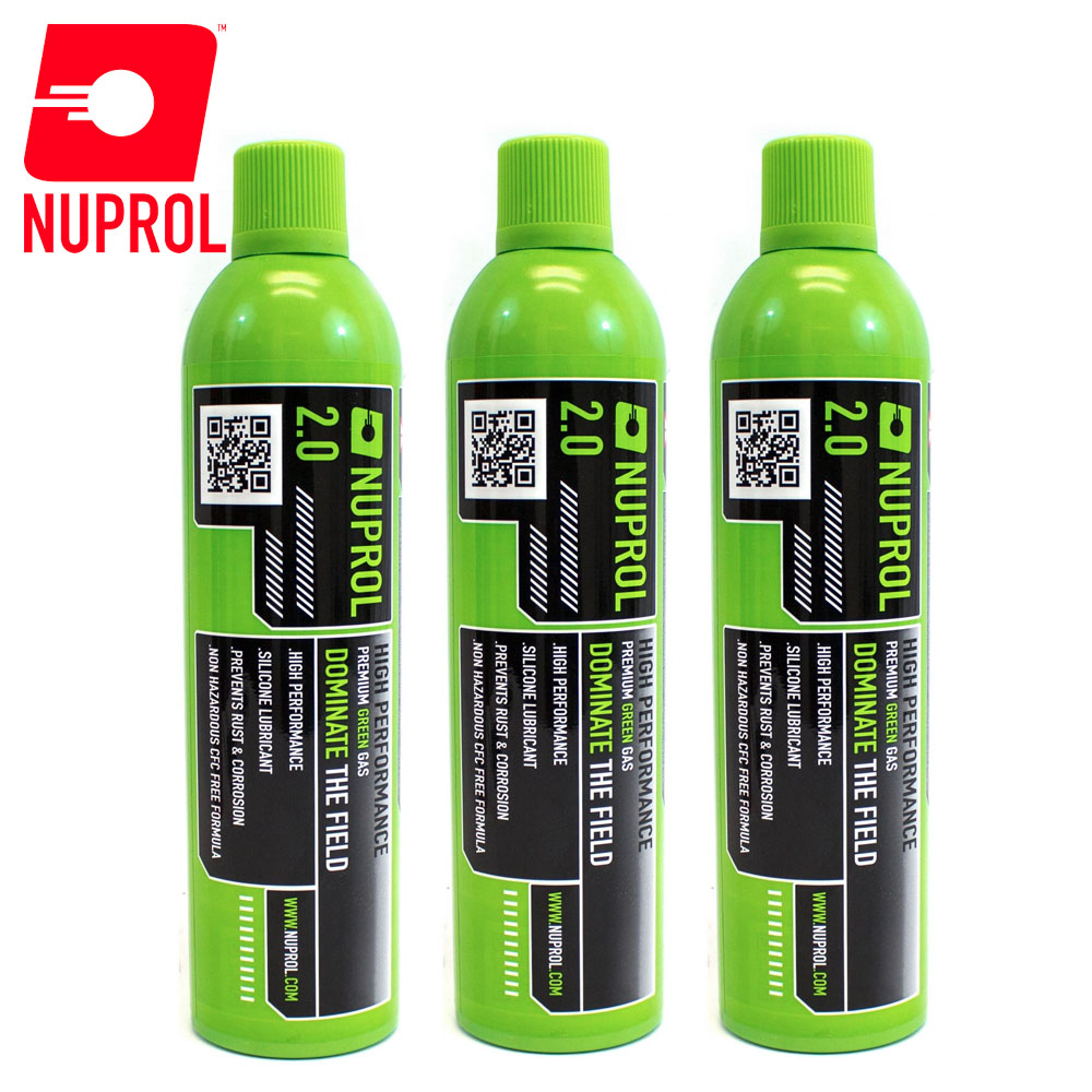 3x Nuprol 2.0 Premium Green Gas 1000ml (300g) NUPROL