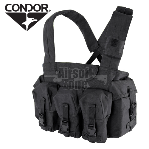 7 Pocket Chest Rig Black CONDOR