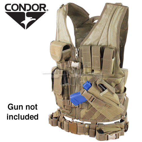 Cross Draw Vest Tan CONDOR