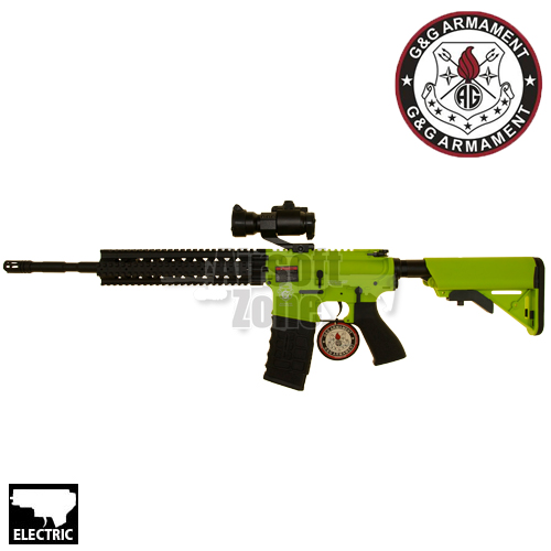 CM16 M4 R8-L (Bright Green) with Red Dot Sight AEG G&G