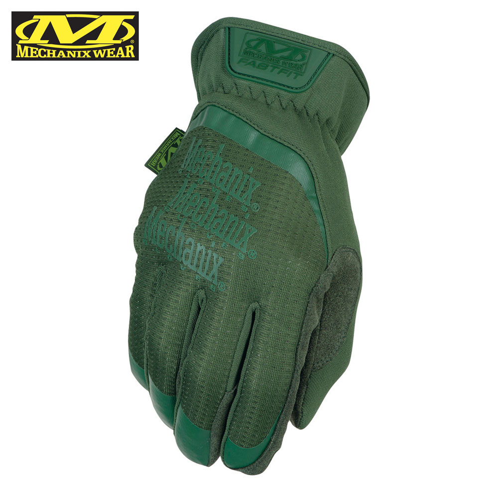 FastFit Green Tactical Gloves Mechanix