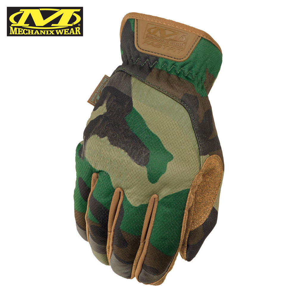 FastFit Woodland Tactical Gloves Mechanix