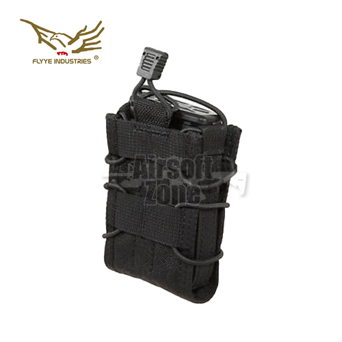 Single BIB Rifle Magazine Black MOLLE FLYYE
