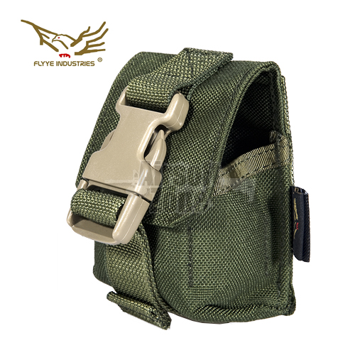 Single Frag Grenade Pouch OD Green MOLLE FLYYE