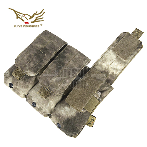 Triple M4/M16 Magazine Pouch (holds 6 mags) A-Tacs MOLLE FLYYE