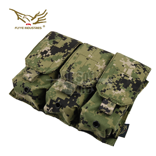 Triple M4/M16 Magazine Pouch (holds 6 mags) AOR2 MOLLE FLYYE