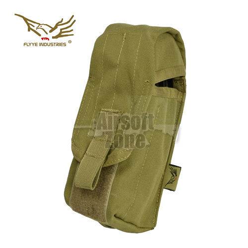 Single AK Magazine Pouch (holds 2 mags) Khaki MOLLE FLYYE