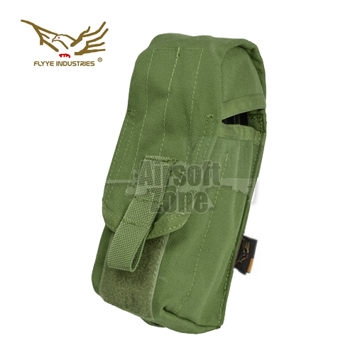 Single AK Magazine Pouch (holds 2 mags) OD Green MOLLE FLYYE