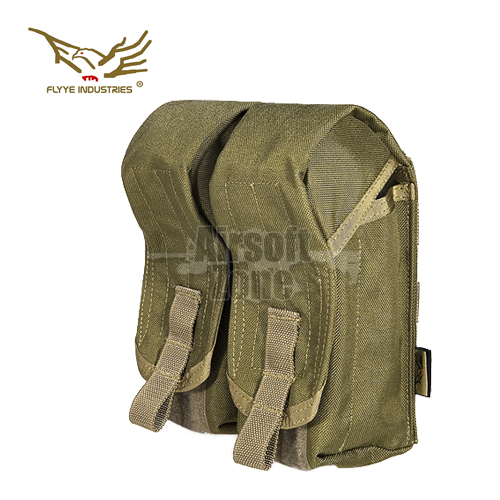 Double AK Magazine Pouch (holds 4 mags) Khaki MOLLE FLYYE
