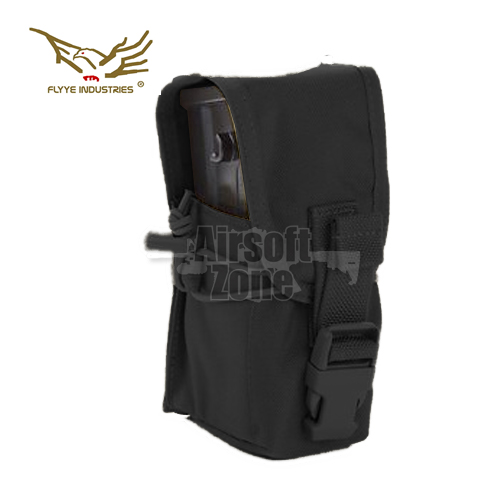 Single G36 Magazine Pouch (holds 2 mags) Black MOLLE FLYYE