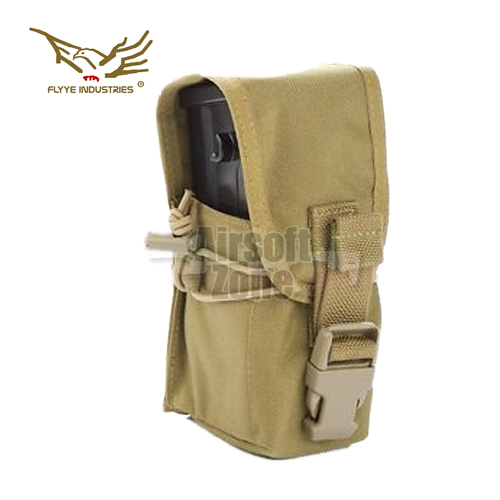 Single G36 Magazine Pouch (holds 2 mags) Khaki MOLLE FLYYE