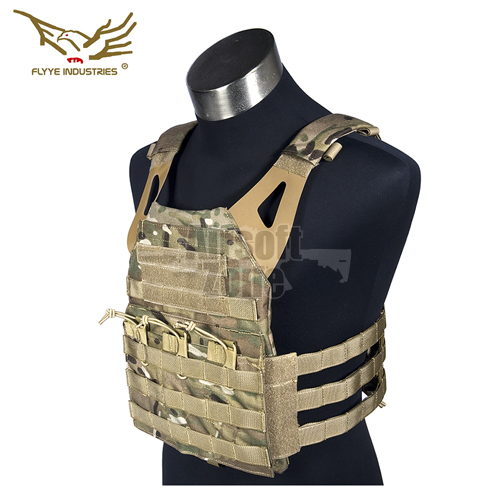 JPC Style Light MOLLE Plate Carrier with dummy plates Multicam FLYYE