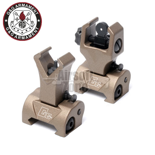 Flip-up Front and Rear Sight Desert Tan G&G