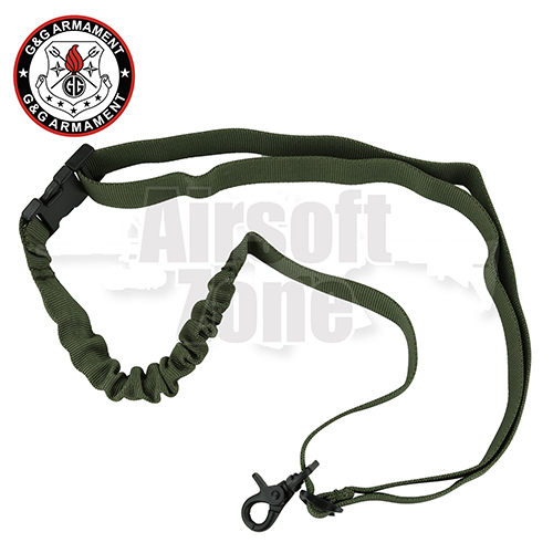 Single Point Bungee Rifle Sling OD Green G&G