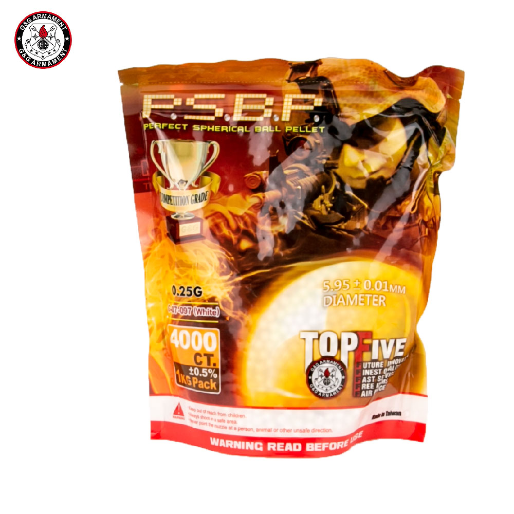 0.25g Perfect BBs 1kg Bag of 4000 G&G