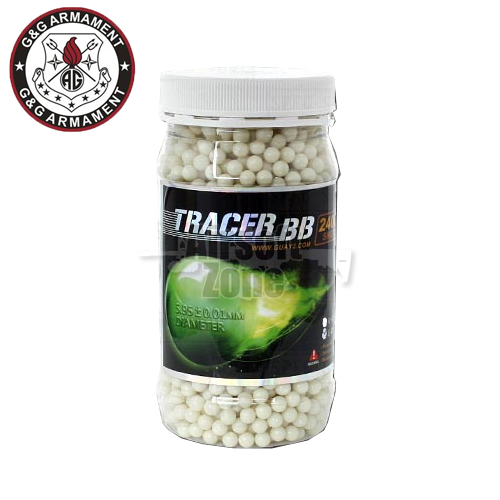 0.25g Perfect Green Tracer BBs Jar of 2400 G&G