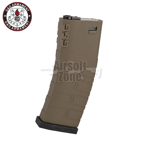 120rnd Mid-Cap Magazine Tan/Black for M4 / M16 (GR16) G&G