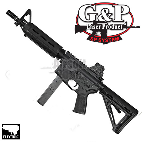 M4 MOE 9mm SMG Magpul Black AEG G&P