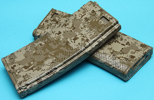 M4 / M16 Digital Desert Camo Troy Battle Magazine 340rnd Hi-Cap (pack of 2) G&P