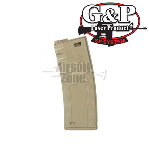 M4 / M16 Dark Earth Troy Battle Magazine 340rnd Hi-Cap (pack of 2) G&P