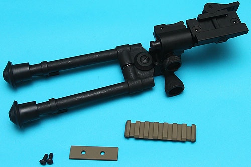 Reinforced RIS Bipod (Long) with M14 DMR Rail Sand G&P