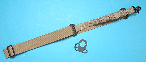 Bungee Sling with M4 Sling Adaptor (Sand) G&P
