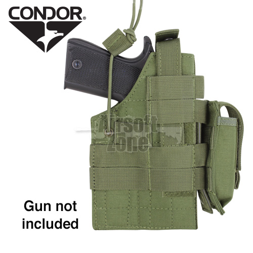 Ambidextrous MOLLE Holster for 1911 OD Green CONDOR