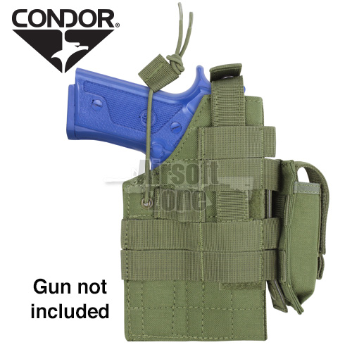 Ambidextrous MOLLE Holster for  M9/M92 Beretta OD Green CONDOR