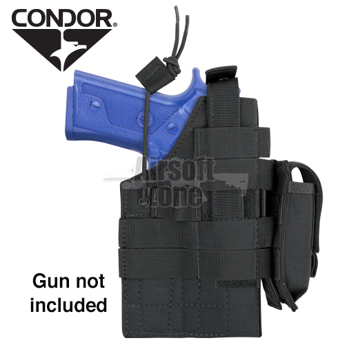 Ambidextrous MOLLE Holster for  M9/M92 Beretta Black CONDOR
