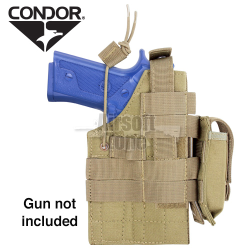 Ambidextrous MOLLE Holster for  M9/M92 Beretta Tan CONDOR