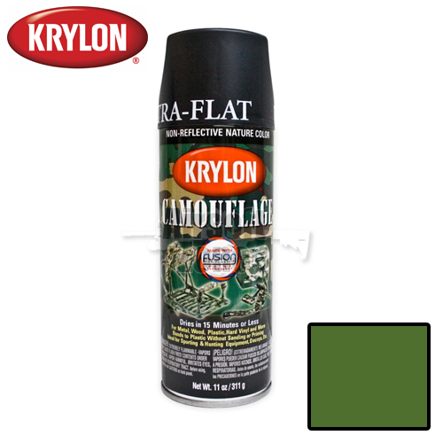 Woodland Green Camouflage Spray Paint Krylon