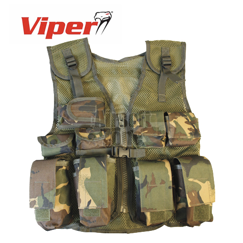 Kids Assault Vest Woodland Camo MIL-COM