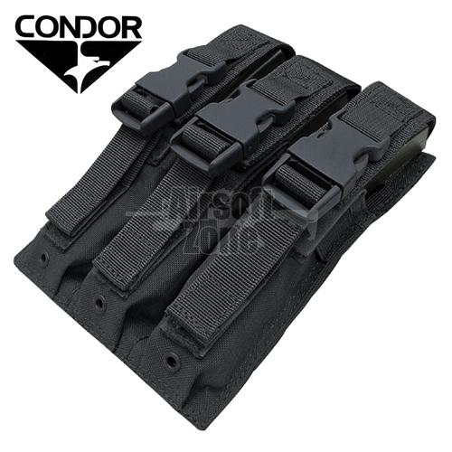 Triple MP5 Magazine Pouch Black MOLLE CONDOR