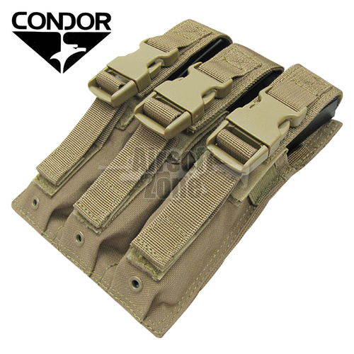 Triple MP5 Magazine Pouch Tan MOLLE CONDOR