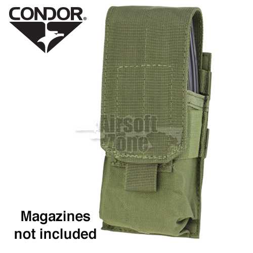 Single M4 Magazine Pouch (holds 2 mags) OD Green CONDOR