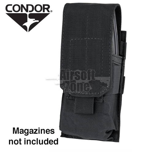 Single M4 Magazine Pouch (holds 2 mags) Black CONDOR