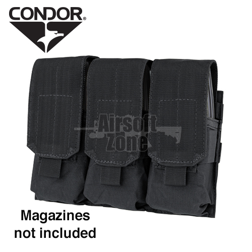 Triple M4 Magazine Pouch (holds 6 mags) Black CONDOR