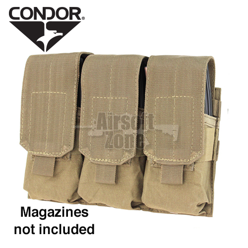 Triple M4 Magazine Pouch (holds 6 mags) Tan CONDOR