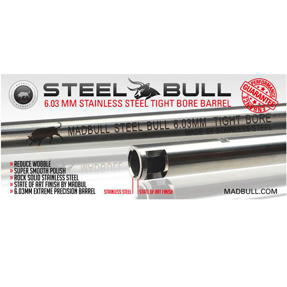 509mm Stainless Steel 6.03mm Tight Bore Barrel MADBULL