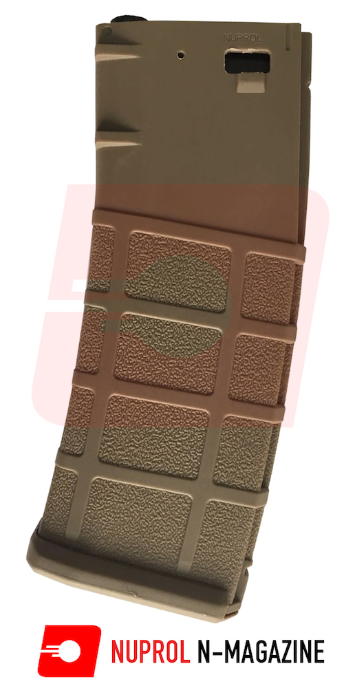 N-Mag High-Cap M4 Magazine 350rnd Tan NUPROL